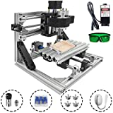 Mophorn Cnc Machine 1610 Grbl Control Cnc Router Kit 3 Axis Pcb Laser Engraver 160X100X40Mm With 2500mW Laser Head Module And Lamp (Tamaño: 160x110mm)