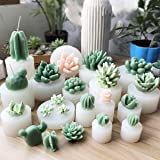 SUPVOX 3 Pack Succulent Plants Resin Molds, Resin Cactus Epoxy Resin Silicone Molds, Flower Resin Casting Molds for Handmade Candle, Resin Crafts DIY (Color: White, Tamaño: 9.2 x 3.6 x 3.6cm)