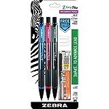 Zebra Z-Grip Plus Mechanical Pencil, 0.7mm, Bonus Lead and Erasers, Assorted Barrel Colors, Blue, Pink, Black , 3-Count (Color: Blue, Pink, Black, Tamaño: 3-Count)
