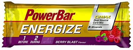 Powerbar Energize Riegel, Berry, 25 x 55 g, 1er Pack (1 x 1,4 kg Packung)