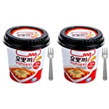 Cheese Tteokbokki Korean Rice Cake Instant 8.5oz 240g (Pack of 2, Cheese & Hot Sauce) Korean Snack Tteok Tteokbokki Rice Cake ??? (Tamaño: 2 pack)