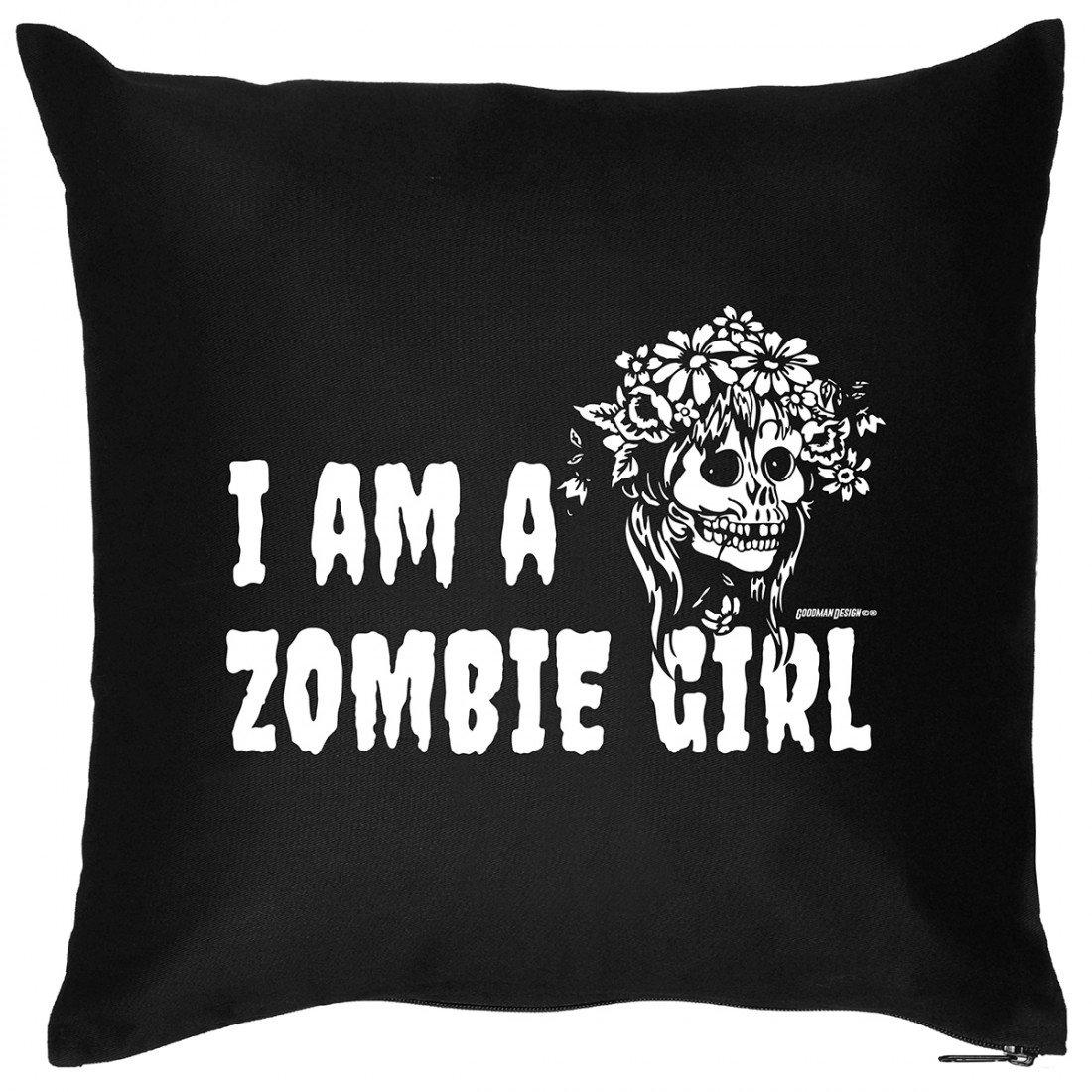 Kissen Sofakissen mit Aufdruck – I am a Zombie Girl – Horror Hexe Monster Halloween Geschenk – Wendekissen günstig online kaufen