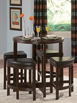 Brussel II 5- PC Counter Height Dining Set by Homelegance in Cherry