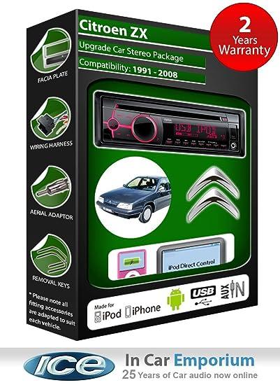 Citroen ZX de lecteur CD et stéréo de voiture radio Clarion jeu USB pour iPod/iPhone/Android
