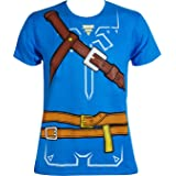 Bioworld Zelda Breath of The Wild Boys Cosplay Youth T-Shirt (Large) (Color: Blue, Tamaño: Large)