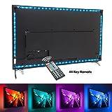 Nexlux TV Backlight, 9.8ft Black USB LED Strip Lights Kit TV Lights 20 Colors 5050 LEDs Bias Lighting with 44-Key IR Remote Controller for 46 inch~65