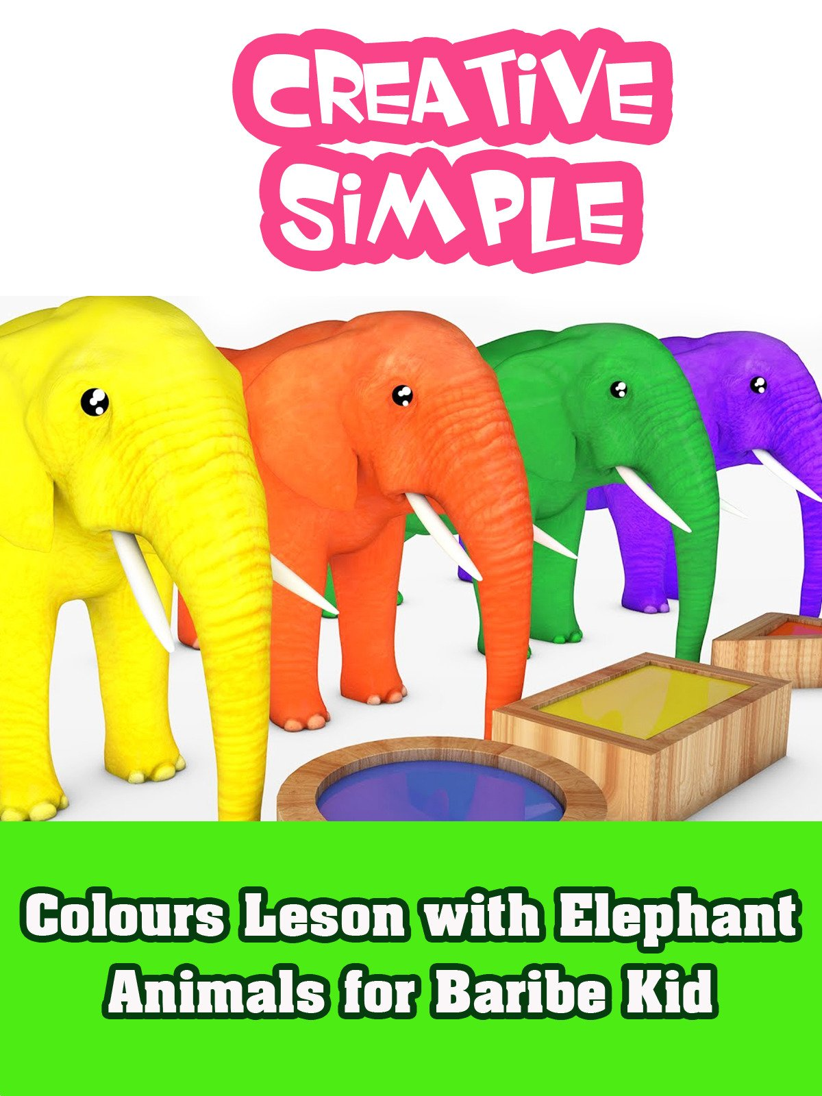 Colours Leson with Elephant Animals for Baribe Kid