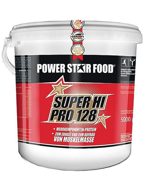SUPER HI PRO 128, Top-Protein, 5000g Eimer, Protein-Bestseller von höchster biologischen Wertigkeit 128, Geschmack: Natur ohne aroma und Sußungsmittel