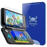 Nintendo 2DS XL Screen Protector (2x Top Glass + 2 Bottom PET Protectors), Skinomi Tech Glass + PET Screen Protector for Nintendo 2DS XL [ Clear HD] [9H Hardness][Scratch Resistant] [Easy Install]