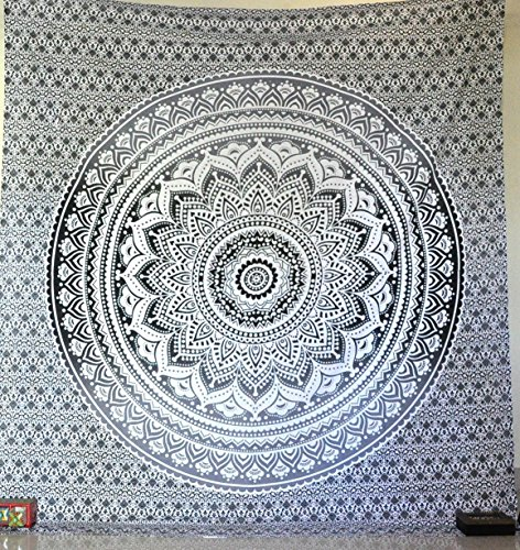 exclusive-black-and-white-ombre-tapestry-by-jaipurhandloom-mandala-tapestry-queen-multi-color-indian