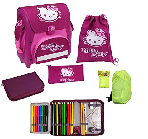 Schulranzenset Hello Kitty 5tlg. Modell Cube