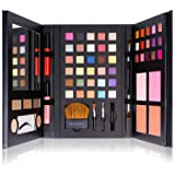 SHANY Luxe Book Makeup Set - All In One Travel Cosmetics Kit with 30 Eyeshadows, 15 Lip Colors, 5 Brushes, 4 Pressed Blushes, 3 Brow Colors, and Mirror (Color: MULTI-COLORED)