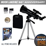 Celestron Travel Scope 70 Telescope Limited Edition Apollo 11 50Th Anniversary Bundle