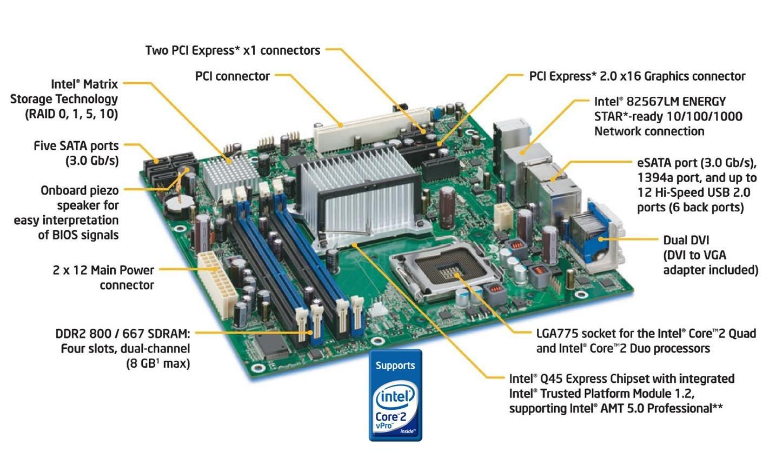 Intel desktop board d945gccr