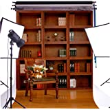 Duluda Retro Bookshelf 5X7FT Indoor Studio Photography Background Computer-printed Poly Fabric Seamless Backdrop GMWD27
