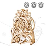 ROKR 3D Self-Assembly Puzzle Model-Wooden Building sets-Adult Craft Set-Brain Teaser Educational and Engineering Toy- Perfect Gift for Teens and Adults 14 years and up (Pendulum Clock)