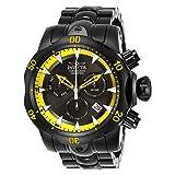 Invicta Men's 26637 Venom Quartz Chronograph Black, Yellow Dial Watch (Color: Yellow)