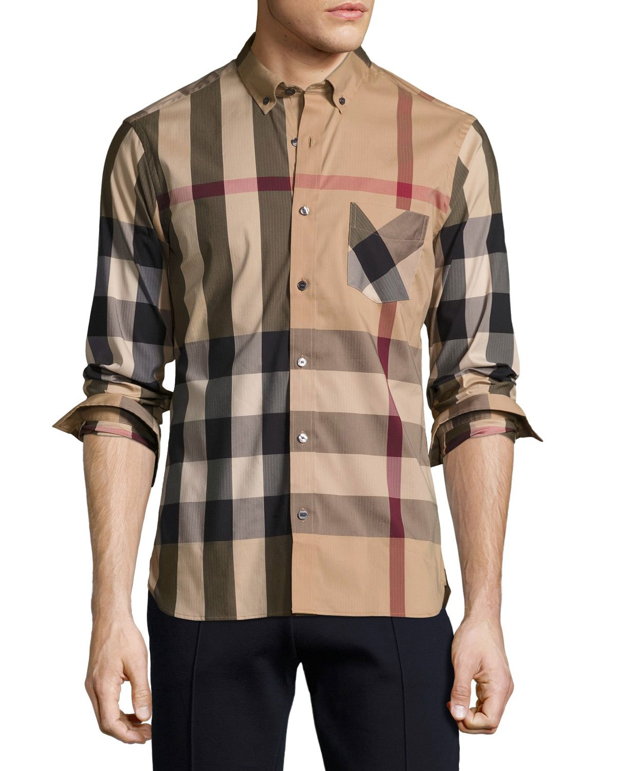 Camel Burberry Shirt
