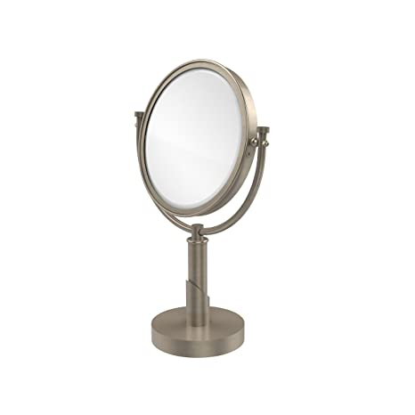 Allied Brass TR-4/2X-PEW Table Mirror with 2X Magnification, Antique Pewter