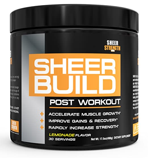 Sheer BUILD, Premium Muscle Builder and Post Workout Recovery Supplement