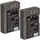 BM Premium 2 Pack of BM Premium EN-EL9, EN-EL9A Batteries for Nikon D5000, D3000, D60, D40x & D40 Digital SLR Camera (Tamaño: 2 Batteries)