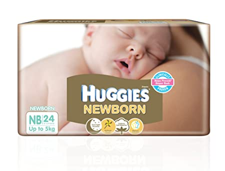 Image result for Huggies New Born Diapers (24 Count)