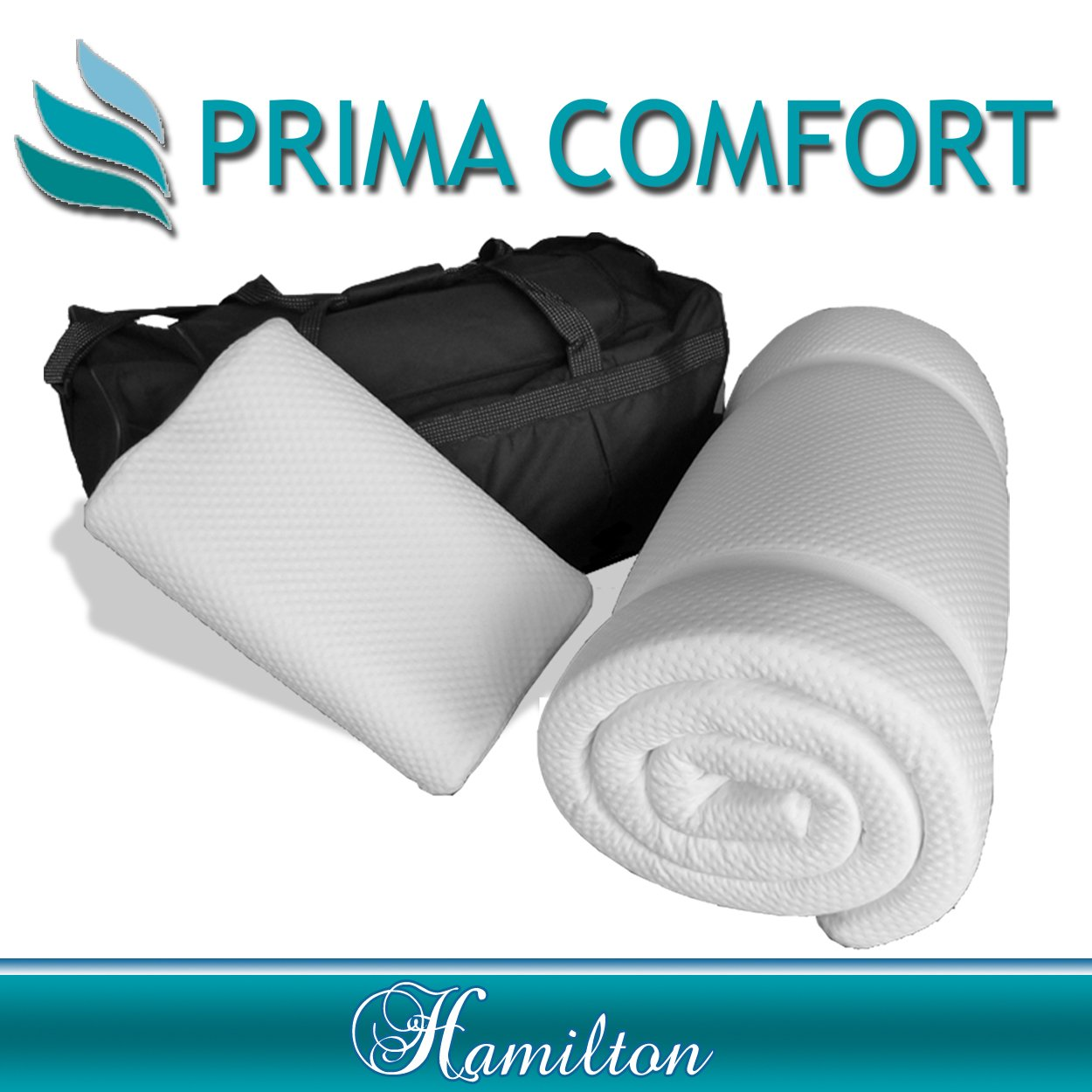 Prima Comfort Travel Memory Foam Mattress Topper plus Pillow   The Hamilton  7 DAY MONEY BACK GUARANTEE!!! includes Memory Foam Travel Pillow and holdall bag! (Mattress 190cm x 70cm x 3.5cm)       review