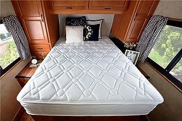 Sleep Master Deluxe Spring 10 Inch Pillow Top RV/Camper/Trailer/Truck Mattress, Short Queen