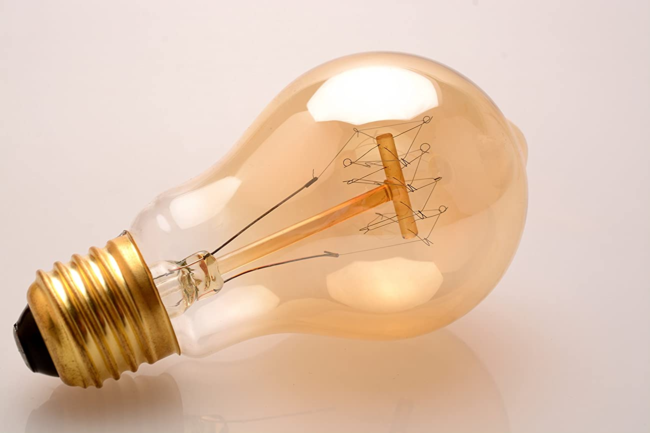 Edison Light Bulb - 40W A19 Quad Loop Filament bulb - Vintage - Shmeer Lighting 3