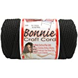 Pepperell BB6-100-042 6mm Bonnie Macramé Craft Cord, 100-Yard, Black