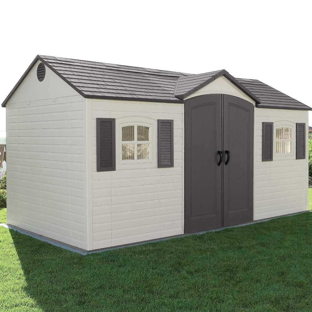 Large livable plastic shed with windows