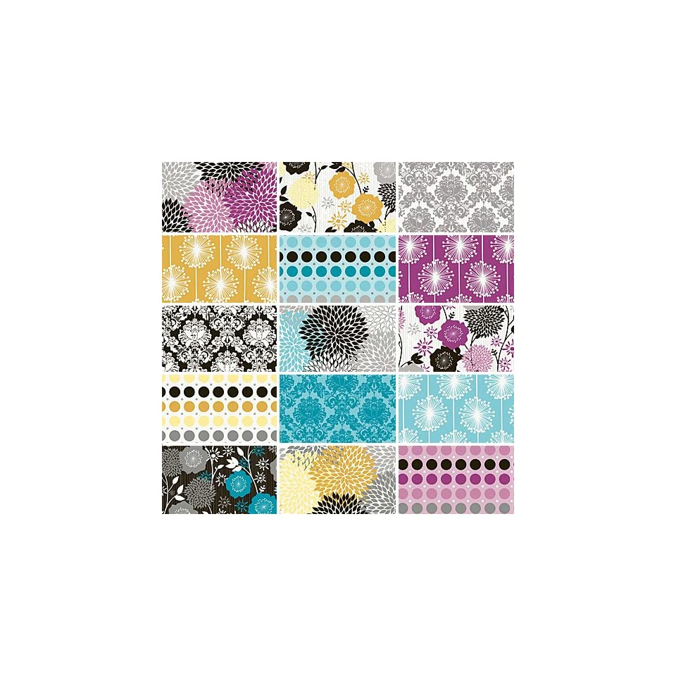 Riley Blake ANDREA VICTORIA Precut 10 inch Stacker Layer Cake Cotton Fabric Quilting Squares Assortment 10 3550 15 Floral Flowers Polka Dots Damask