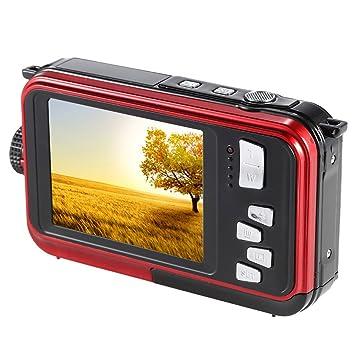 """Andoer Amkov Double écran LCD 2.7"""" fond d'écran HD 24MP 16 X Zoom numérique 1080p 30 FPS anti-tremblement Selfie autoportrait appareil photo numérique caméscope enregistreur vidéo étanche"""