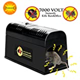 Verfanny Electronic Rat Traps,Effective and Powerful Killer for Rat,Squirrels Mice and Other Similar Rodents, Using High Voltage Humane Exterminating - Best Pest Control / 2018 Upgraded Version (Tamaño: Pack of 1)