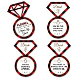 Drink If Game - Flannel Fling Before The Ring - Buffalo Plaid Bachelorette Party Game - 24 Count