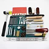 Heaven Tvcz 44 pcs Stamping Craft Tools Working Kit Set and Sewing Stitching Leather US for the basic stamping set,Kit for beginner, great for personalizing your leather projects.