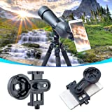 AYAMAYA Universal Smartphone Adapter Mount Telescope Connection Stand Holder Compatible with Binocular Monocular Spotting Scope Telescope and Microscope for Eyepiece Diameter 26mm to 46mm (Color: Black)