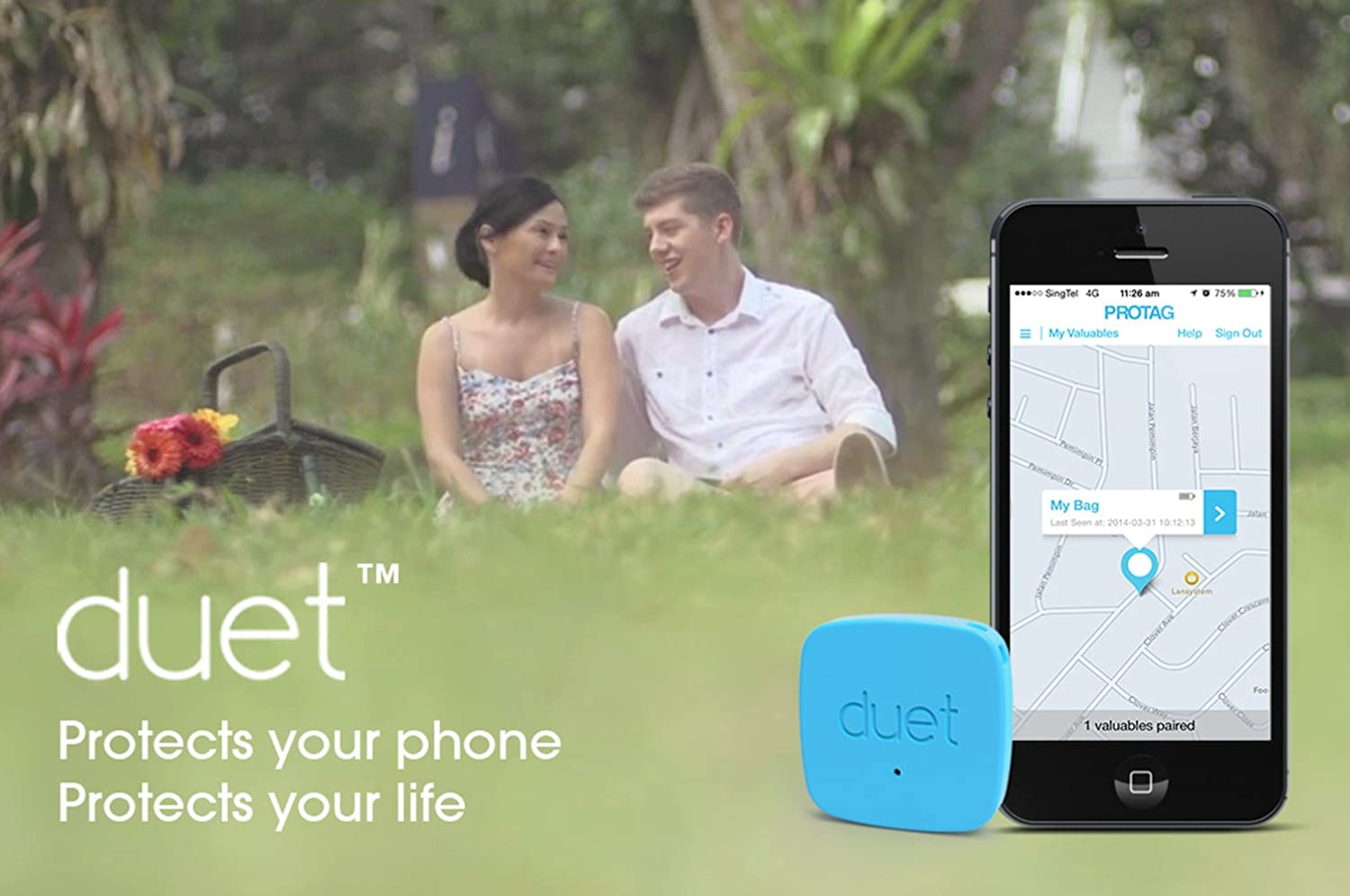 PROTAG Duet Bluetooth Tracker