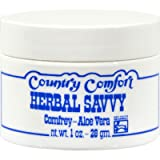 Country Comfort Herbal Savvy Comfrey Aloe Vera - 1 oz (Pack of 2)