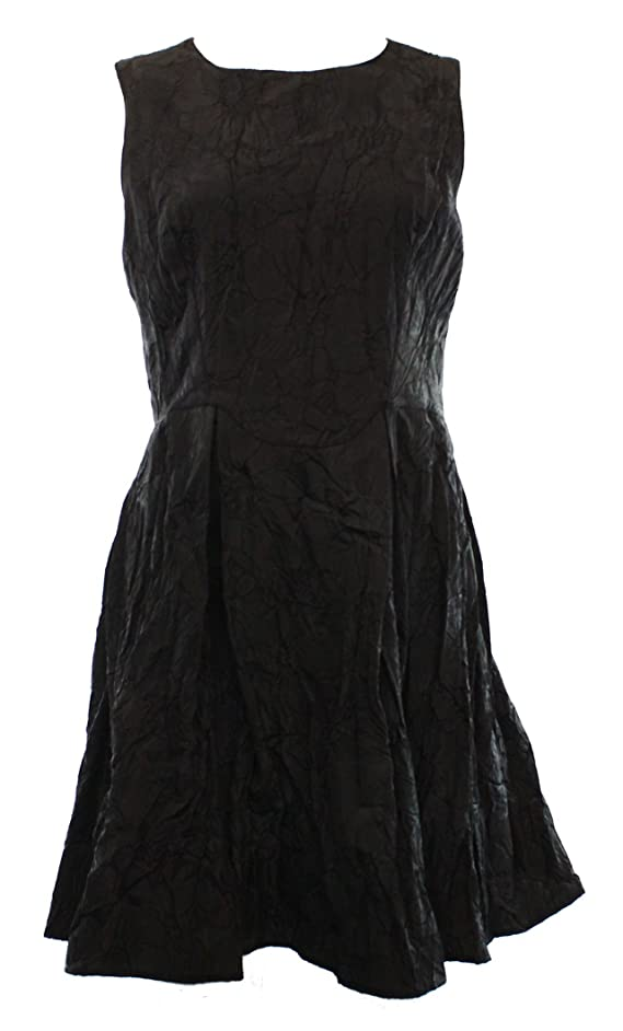 Studio M Womens Textured Pleated Party Dress