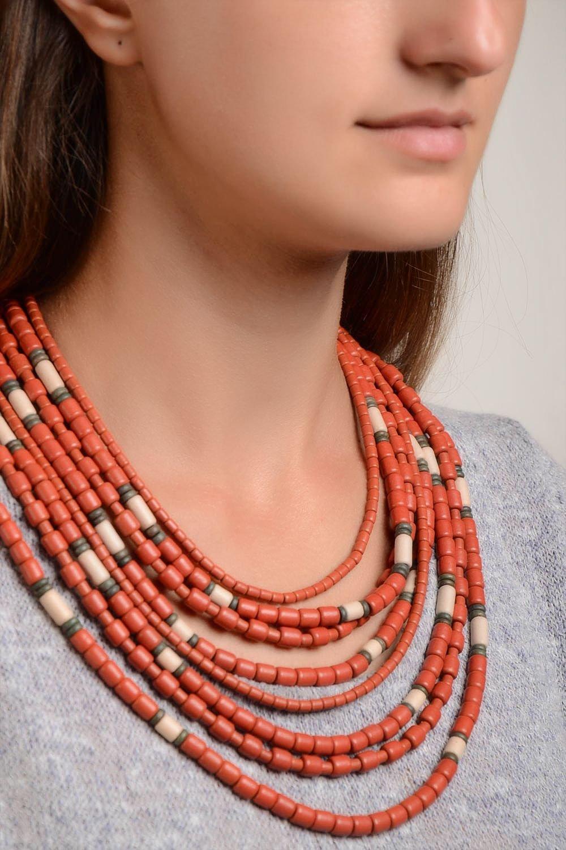 Handmade Keramik Schmuck Damen Collier Halskette Damen Ethno Schmuck breit online kaufen