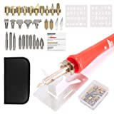 39PCS Wood Burning Kit Tool with Pyrography Pen Include Various Wood Embossing/Carving/Soldering Tips for Creative Wood Burner