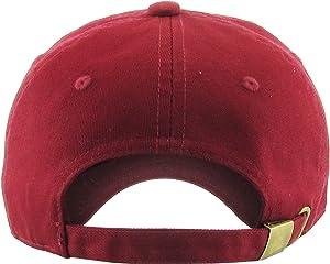 3bdd94ea2b9 KBSV-037 BUR Lit Patch Dad Hat Baseball Cap Polo Style Adjustable (Color  ( 037) Burgundy