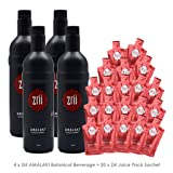 4 Zrii Amalaki Botanical Beverage Mix Juice Bottle 25 fl.oz. (Limited Edition Black Bottle with with Bill Farley Signature) + FREE 20 Sachets Zrii The Original Amalaki Juice pack 2 fl.oz.