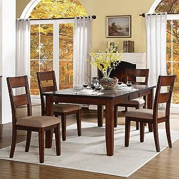 Homelegance Gallatin 5 Piece Dining Room Set In Warm Cherry