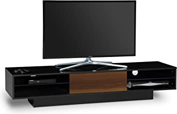 Centurion Supports Tangora tiempo-bajo negro brillante con cistografía triunviro 4-estante 81,28 cm - 177,8 cm pantalla plana TV gabinete