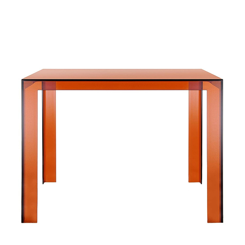 Invisible Tisch 100 x 100 cm, h 72 cm – bernsteinfarben jetzt kaufen