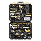 DEKOPRO 198 Piece Home Repair Tool Kit, General Household Hand Tool Set with Wrench Plastic Toolbox (Tamaño: 198 PCS)