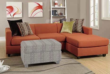 Two Piece Sectional with Accent Pillows (Canyon)