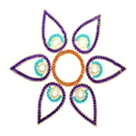 Amba Handicraft Amba Handicraft Purple Phool Rangoli